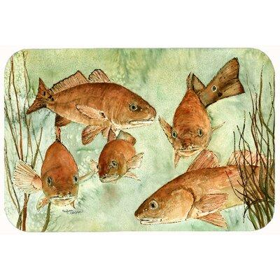 """Fish Swim Kitchen/Bath Mat Size: 24"""" W x 36"""" L"""