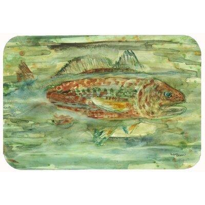 """Abstract Fish Kitchen/Bath Mat Size: 24"""" W x 36"""" L"""