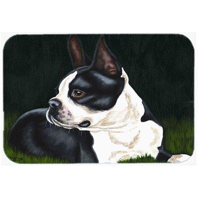 """Boston Terrier Beauty Kitchen/Bath Mat Size: 20"""" W x 30"""" L"""