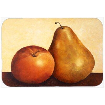 """Apple and Pear Kitchen/Bath Mat Size: 24"""" W x 36"""" L"""