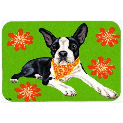 "Cosmo Cutie Boston Terrier Kitchen/Bath Mat Size: 20"" W x 30"" L"