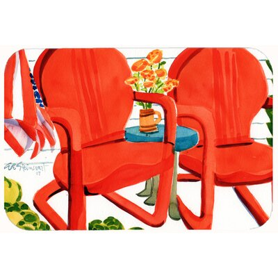 "Chairs Patio View Kitchen/Bath Mat Size: 24"" W x 36"" L"