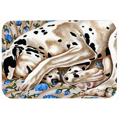 "Bed of Roses Dalmatian Kitchen/Bath Mat Size: 24"" W x 36"" L"