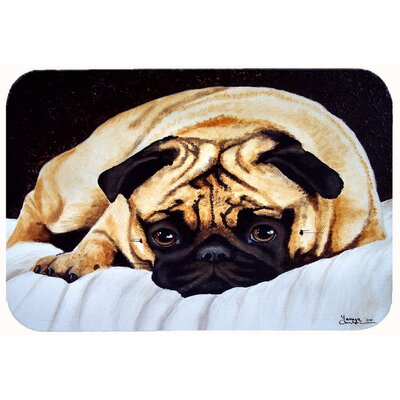 "Fred the Pug Kitchen/Bath Mat Size: 24"" W x 36"" L"