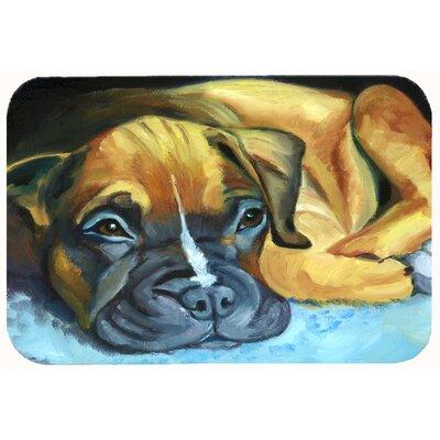 """Boxer Pup Kitchen/Bath Mat Size: 24"""" W x 36"""" L"""