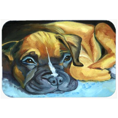 """Boxer Pup Kitchen/Bath Mat Size: 20"""" W x 30"""" L"""