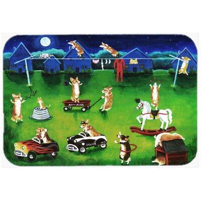 """Corgi Backyard Circus Kitchen/Bath Mat Size: 20"""" W x 30"""" L"""