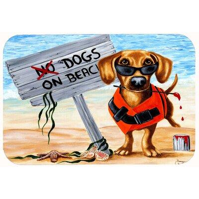"The Dog Beach Dachshund Kitchen/Bath Mat Size: 24"" W x 36"" L"