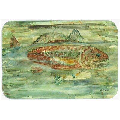 """Abstract Fish Kitchen/Bath Mat Size: 20"""" W x 30"""" L"""