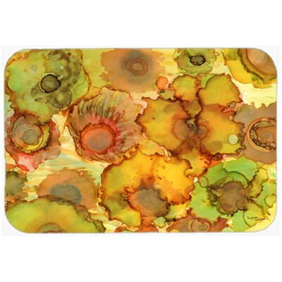 "Abstract Flowers Kitchen/Bath Mat Size: 20"" W x 30"" L"