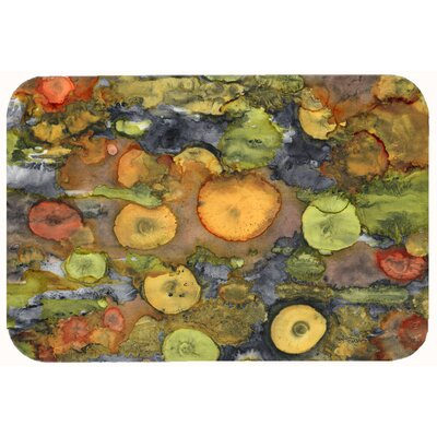"Abstract with Mother Earth Kitchen/Bath Mat Size: 24"" W x 36"" L"