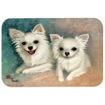 "Chihuahua The Siblings Kitchen/Bath Mat Size: 20"" W x 30"" L"