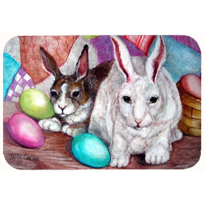 "Buddy Buddies Easter Rabbit Kitchen/Bath Mat Size: 24"" W x 36"" L"