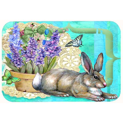 "Justin Easter Rabbit Kitchen/Bath Mat Size: 24"" W x 36"" L"