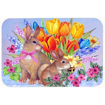 """New Beginnings II Easter Rabbit Kitchen/Bath Mat Size: 20"""" W x 30"""" L"""