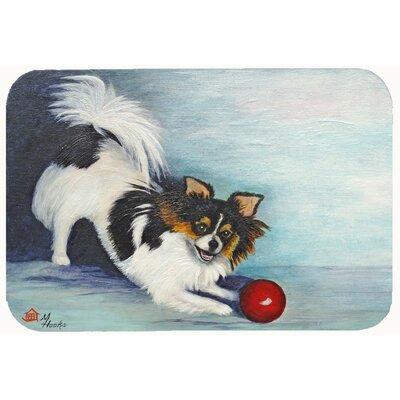 "Chihuahua Play Ball Kitchen/Bath Mat Size: 24"" W x 36"" L"