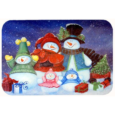 """Merry Christmas from Us All Snowman Kitchen/Bath Mat Size: 20"""" W x 30"""" L"""