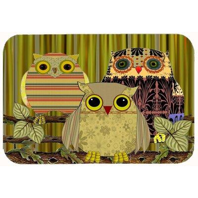 """Fall Wisdom Owl Kitchen/Bath Mat Size: 20"""" W x 30"""" L"""