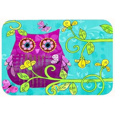 "Sittin in the Flowers Owl Kitchen/Bath Mat Size: 24"" W x 36"" L"
