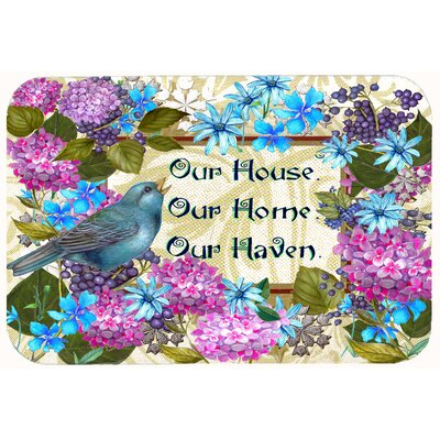 """Our House Our Home Our Haven Kitchen/Bath Mat Size: 24"""" W x 36"""" L"""