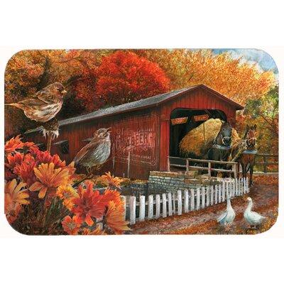 """Fall Covered Bridge Kitchen/Bath Mat Size: 24"""" W x 36"""" L"""