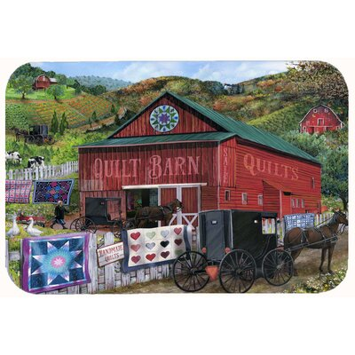 "The Quilt Barn Kitchen/Bath Mat Size: 24"" W x 36"" L"