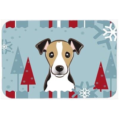 "Jack Russell Terrier Kitchen/Bath Mat Color: Gray/Beige, Size: 20"" W x 30"" L"