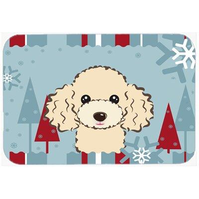 """Poodle Kitchen/Bath Mat Color: Buff, Size: 20"""" W x 30"""" L"""