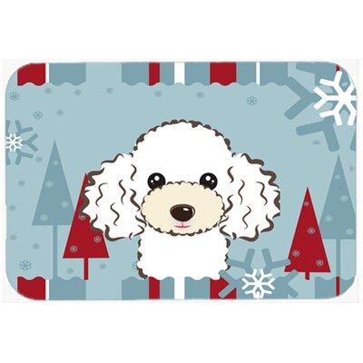 """Poodle Kitchen/Bath Mat Size: 20"""" W x 30"""" L, Color: White"""
