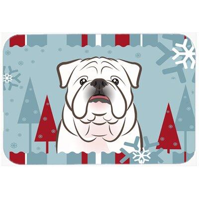 """English Bulldog Kitchen/Bath Mat Color: White, Size: 20"""" W x 30"""" L"""