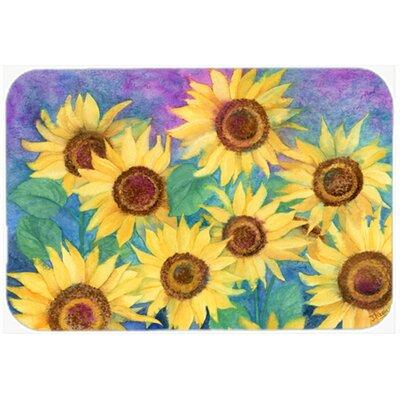 "Landon Sunflowers Kitchen/Bath Mat Size: 20"" W x 30"" L"