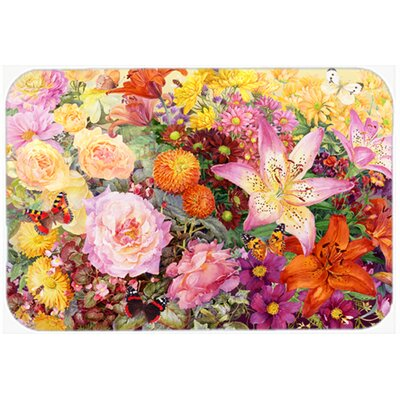 "Autumn Floral by Anne Searle Kitchen/Bath Mat Size: 20"" W x 30"" L"