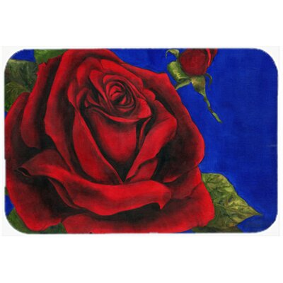 """Rose by Malenda Trick Kitchen/Bath Mat Size: 24"""" W x 36"""" L"""