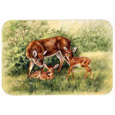"Deer by Daphne Baxter Kitchen/Bath Mat Size: 24"" W x 36"" L"