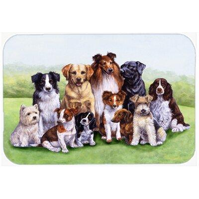 "Justin Dogs Kitchen/Bath Mat Size: 24"" W x 36"" L"