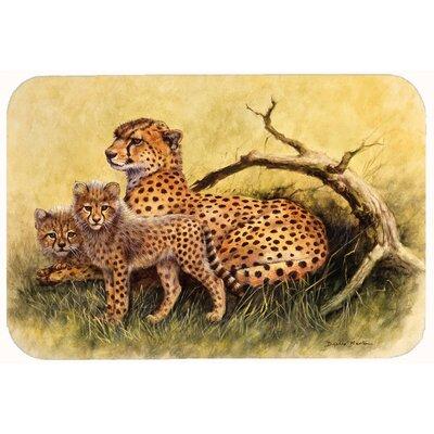 """Cheetahs by Daphne Baxter Kitchen/Bath Mat Size: 24"""" W x 36"""" L"""