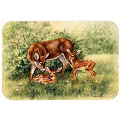 "Deer by Daphne Baxter Kitchen/Bath Mat Size: 20"" W x 30"" L"