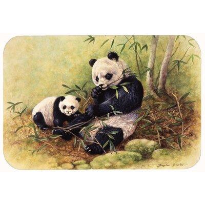 """Panda Bears by Daphne Baxter Kitchen/Bath Mat Size: 24"""" W x 36"""" L"""