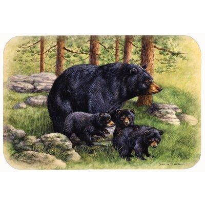 "Butterfields Bear by Daphne Baxter Kitchen/Bath Mat Size: 24"" W x 36"" L"