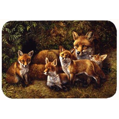 """Family Foxes by Daphne Baxter Kitchen/Bath Mat Size: 24"""" W x 36"""" L"""