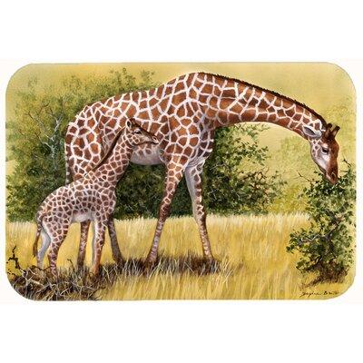 "Lockheart Giraffes by Daphne Baxter Kitchen/Bath Mat Size: 24"" W x 36"" L"