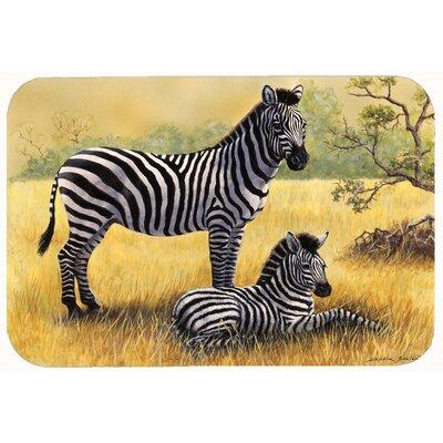 """Zebras by Daphne Baxter Kitchen/Bath Mat Size: 20"""" W x 30"""" L"""