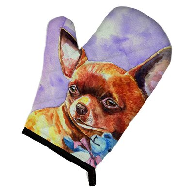 Chihuahua with Teddy Bear Oven Mitt
