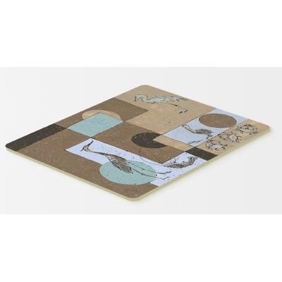 """Heron Kitchen/Bath Mat Size: 24"""" H x 36"""" W x 0.25"""" D"""