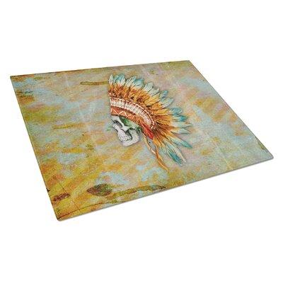 Rectangle Glass Indian Skull Cutting Board