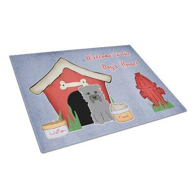 Dog House Glass Glen of Imal Grey Cutting Board Color: Gray