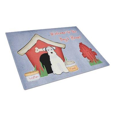 Dog House Glass Miniature Schanuzer Cutting Board Color: White