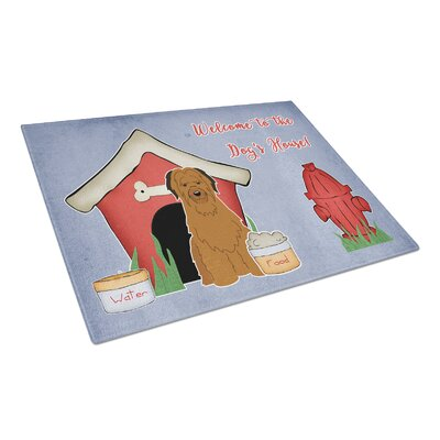 Dog House Glass Briard Cutting Board Color: Brown