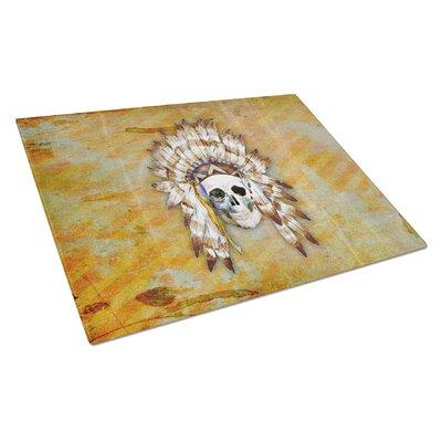 Glass Indian Skull Cutting Board