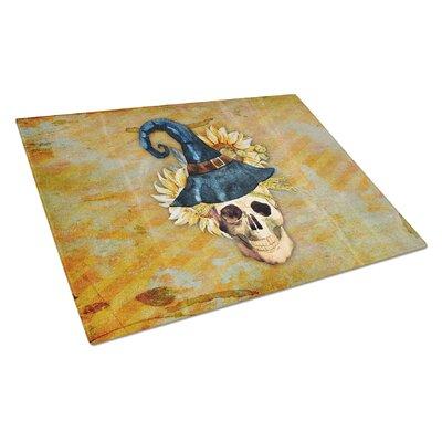 Glass Witch Skull Cutting Board